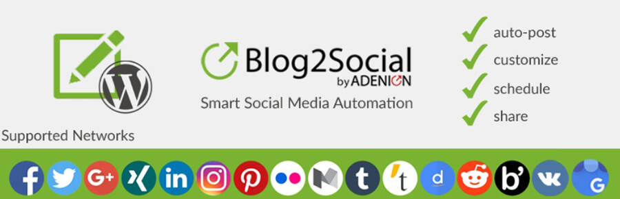 El plugin de Blog2Social.