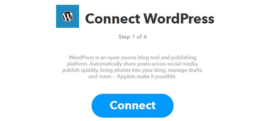Conectando tu cuenta de WordPress.