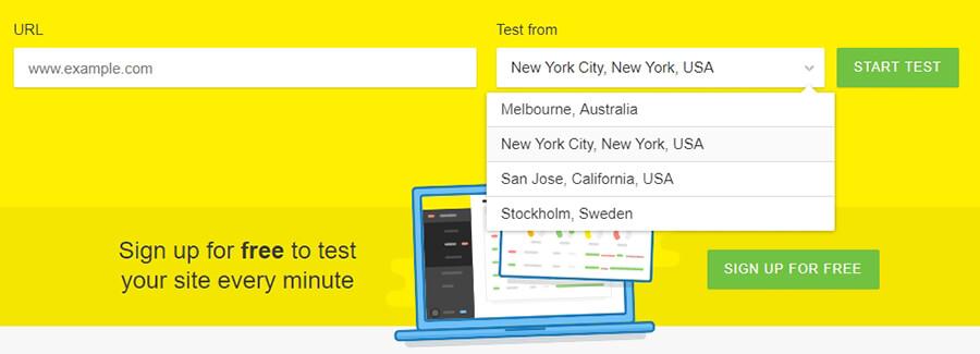 Elegir un servidor para ejecutar tu prueba.