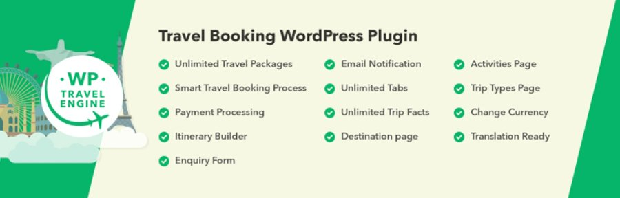 El plugin WP Travel Engine.