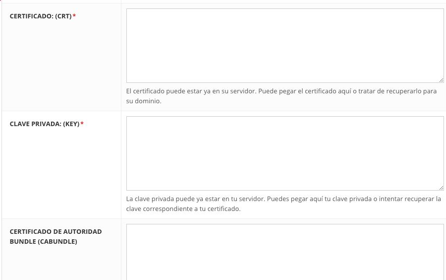 Agregando un certificado SSL personalizado a través de tu panel de control de Hostinger.