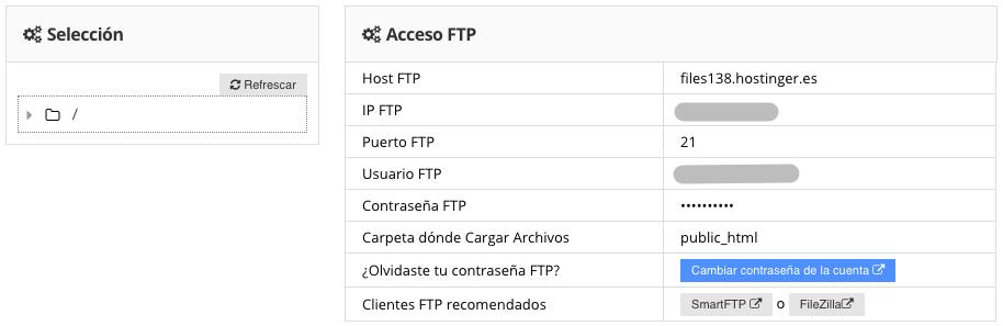 Revisando las credenciales de tu cuenta FTP.