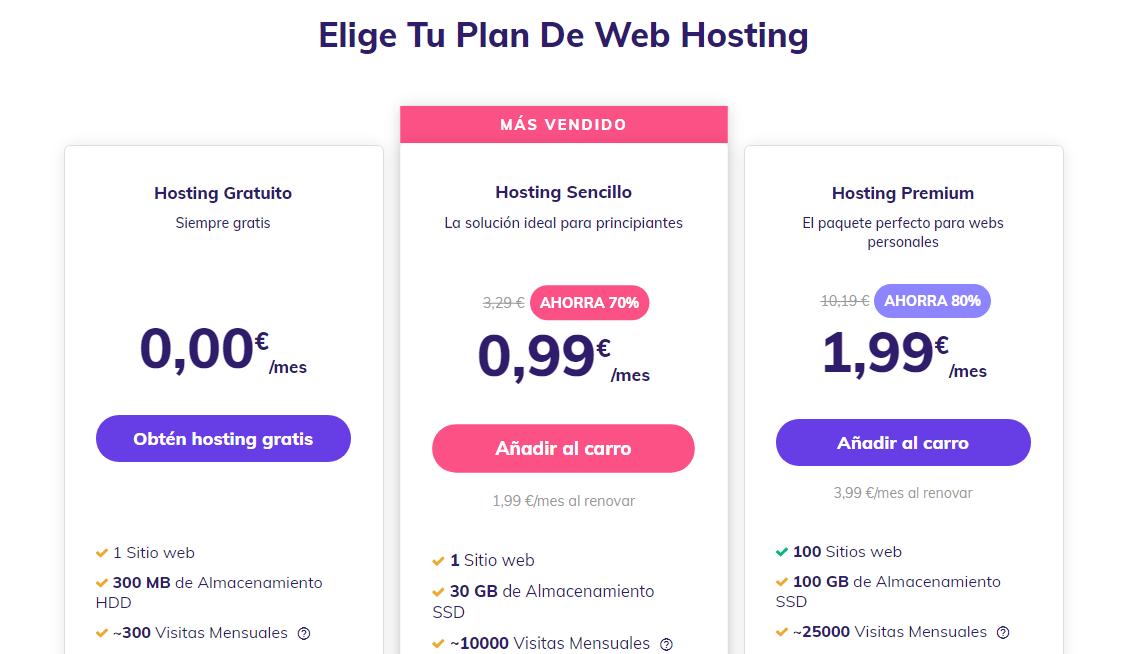 Conseguir un subdominio gratis con el plan de hosting gratuito en Hostinger