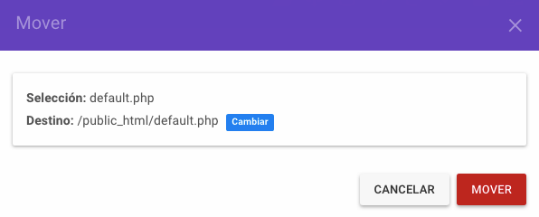 Mover archivos a public_html