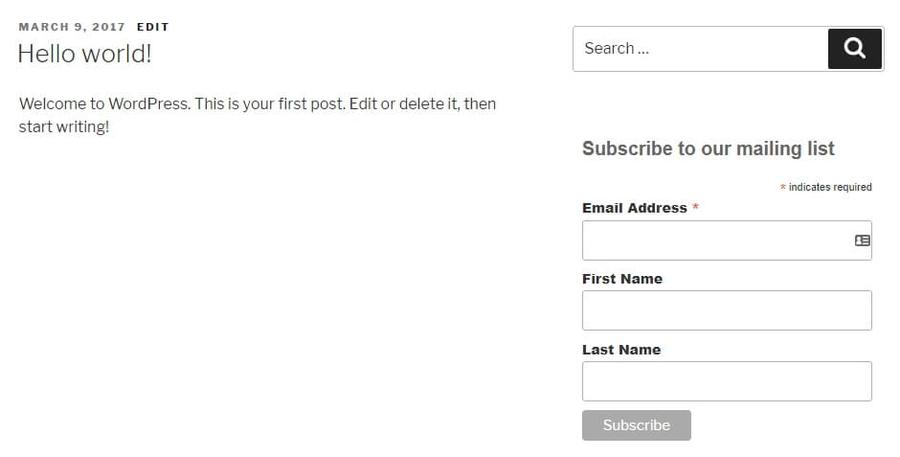 nuevo formulario de contacto