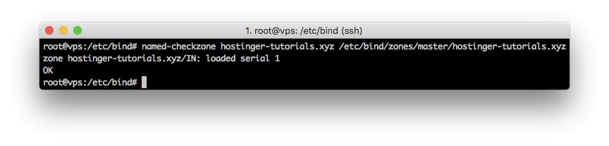 Revisión de zona DNS usando el comando named-checkzone