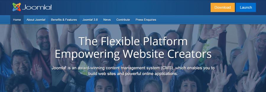 El sitio web de Joomla.