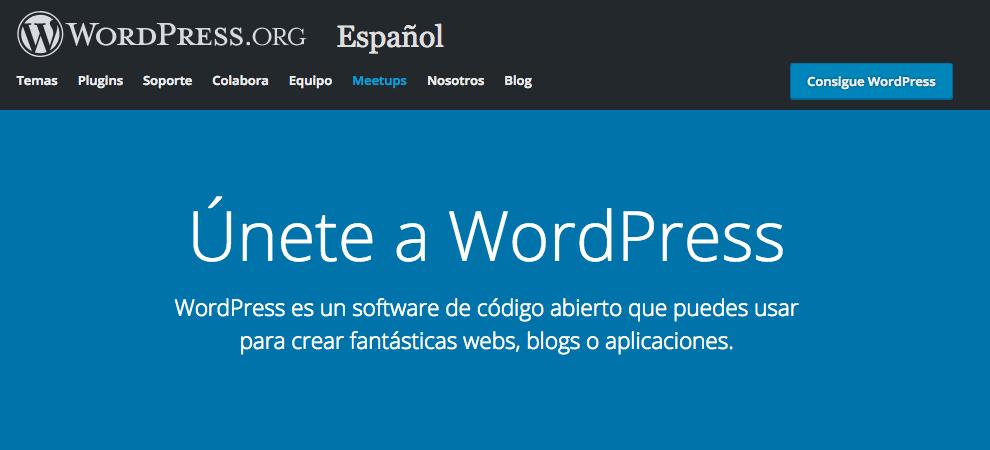 pagina inicio wordpress