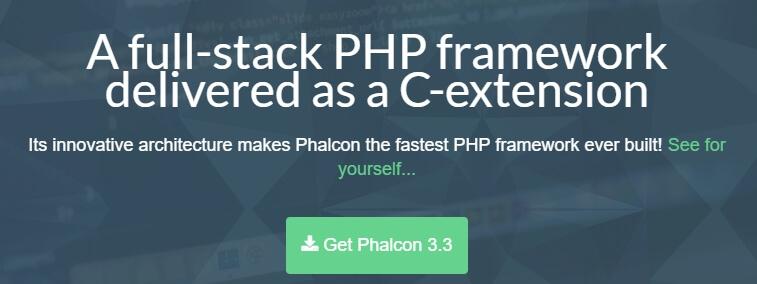 La página de inicio de Phalcon.