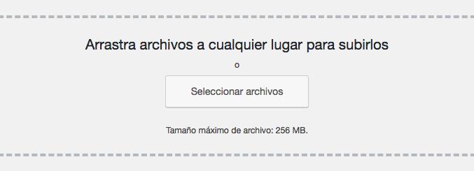 Seleccionando que archivos subir.