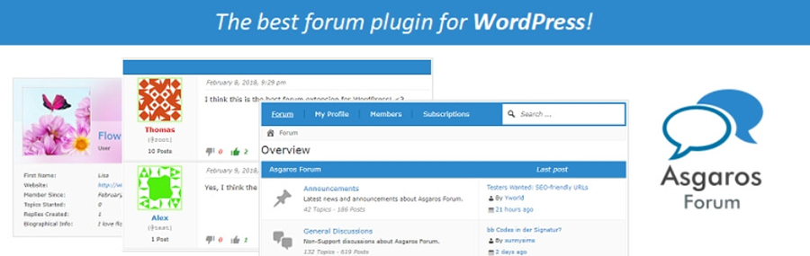 El plugin Asgaros Forum.
