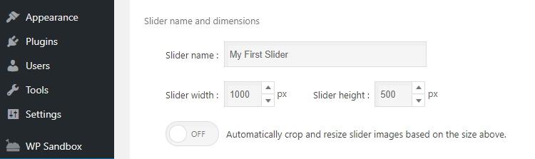 Editar la configuración de tu slider.
