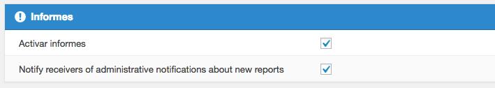 Habilitar los informes de publicación de foro.