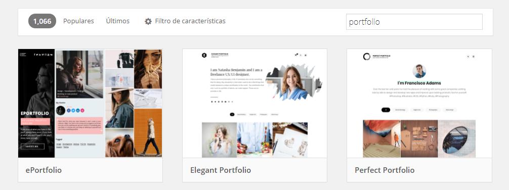 Plantillas de portfolio en WordPress