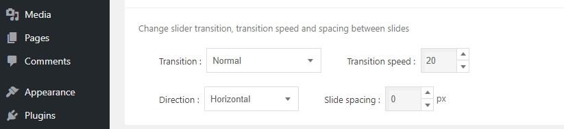 Agregar efectos de transición a tu slider.