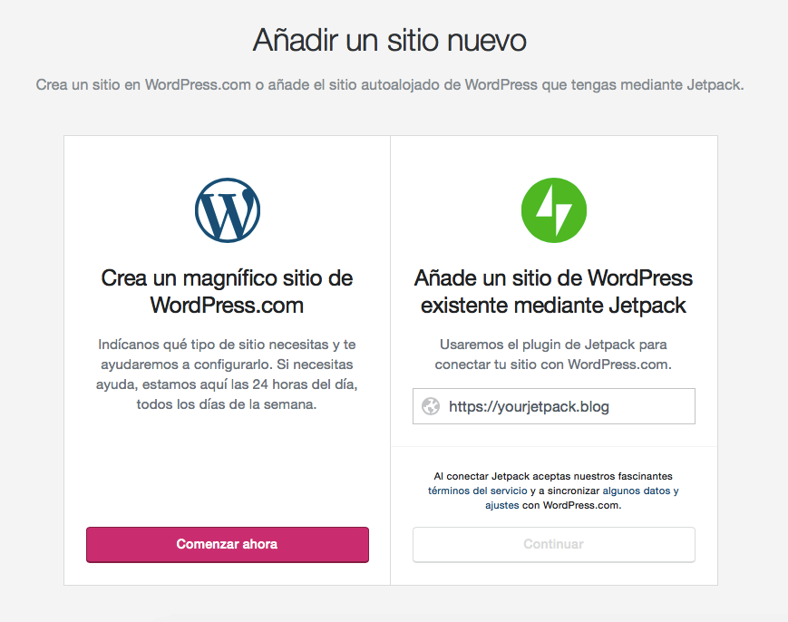Comparando el proceso de iniciar un blog con WordPress.org vs WordPress.com.
