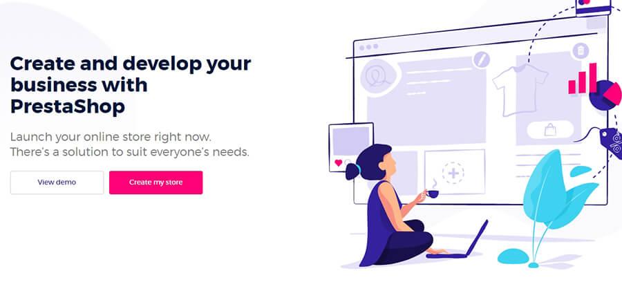 La página de inicio de PrestaShop.