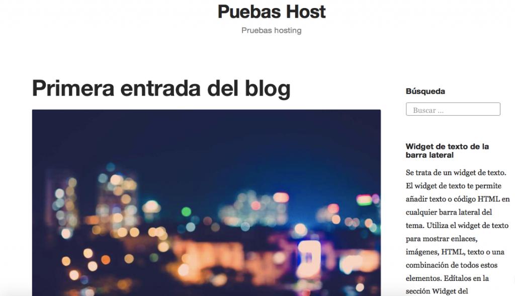 Una vista rápida en tu nuevo blog de WordPress.com.