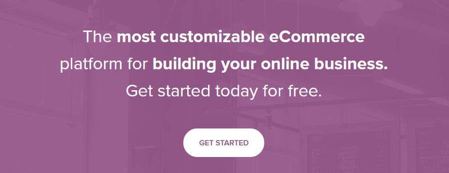 La página de inicio de WooCommerce.