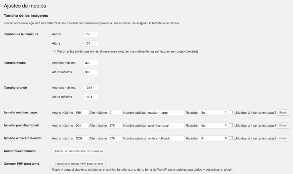 Configuración de plugin para cambiar las imágenes destacadas de WordPress