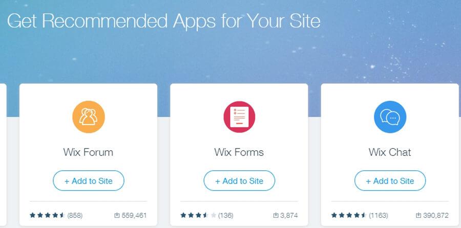 Agregando aplicaciones Wix a tu sitio.