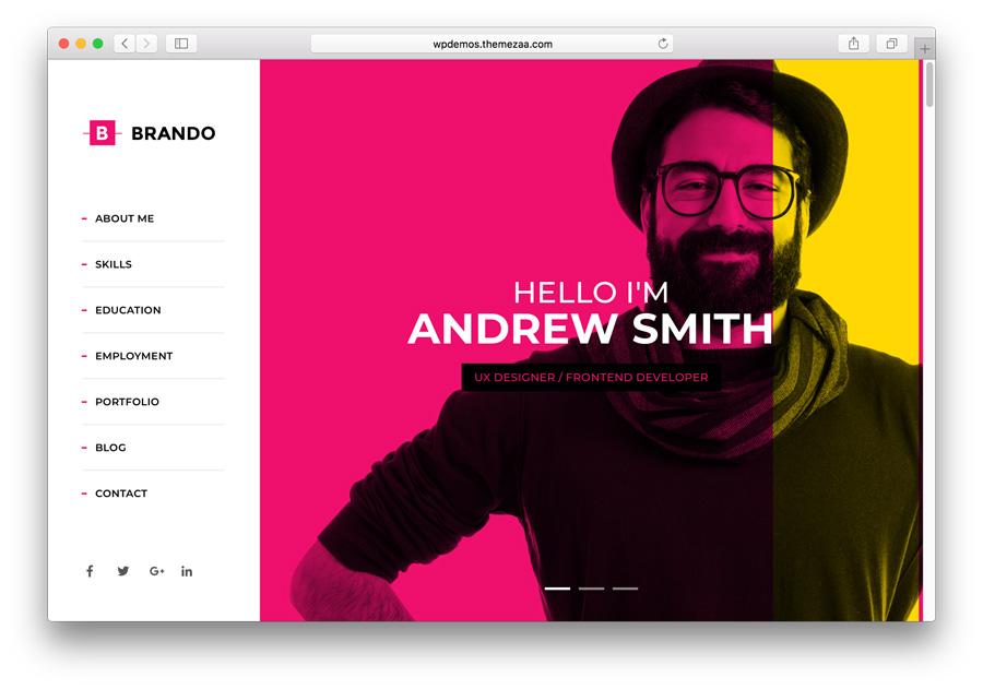 Plantilla Brando Premium WordPress Portfolio