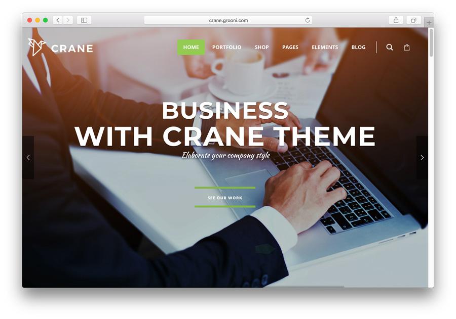Crane plantilla Premium WordPress