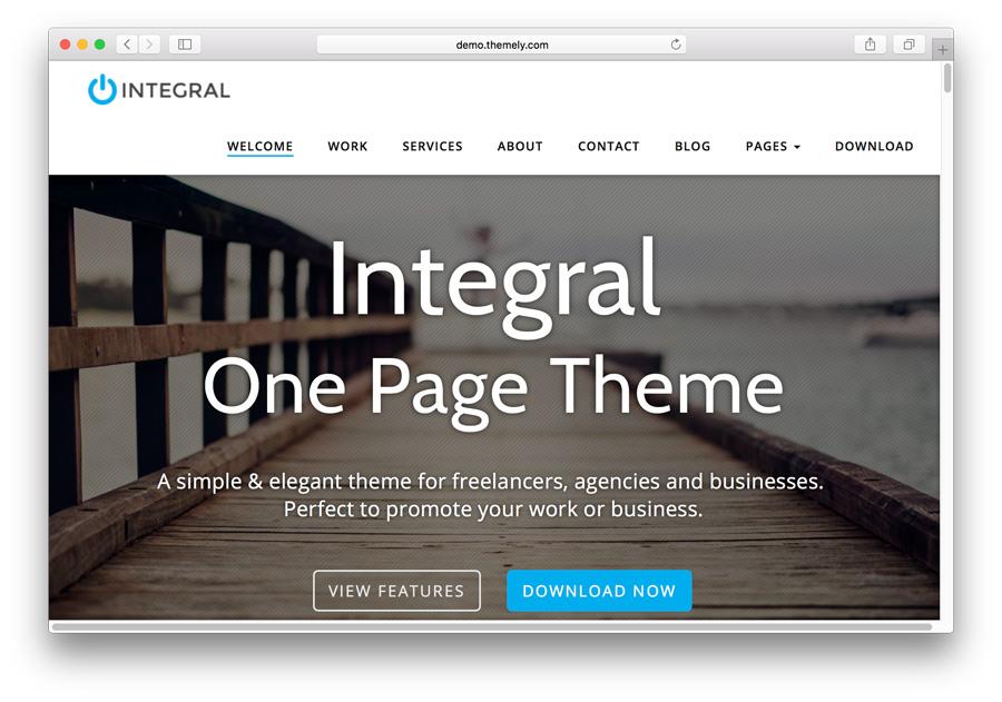Plantilla de portfolio de WordPress integral