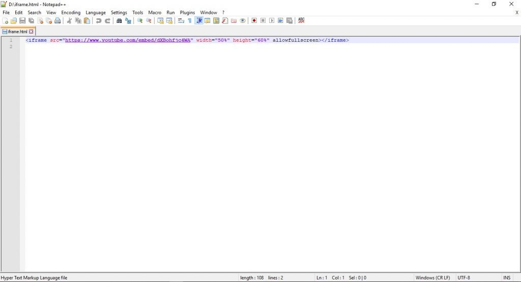 Editor HTML Notepad ++