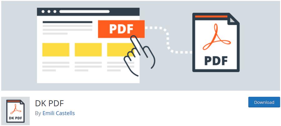 DK PDF WordPress Plugin