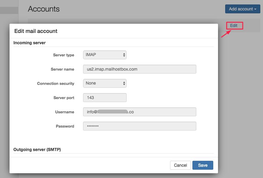 Configuración del servidor de correo entrante y saliente para soluciones de correo electrónico Business y Enterprise