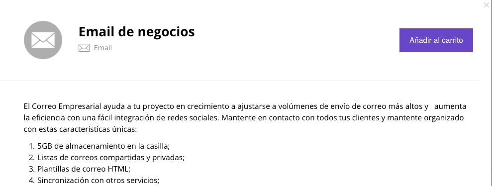 Descripción de Business Email
