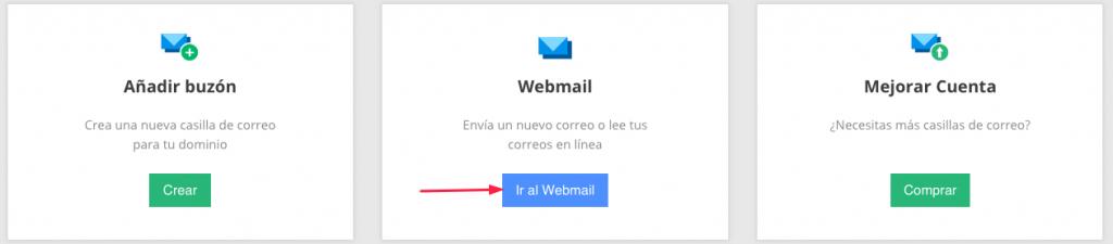 Accediendo a la interfaz de webmail.