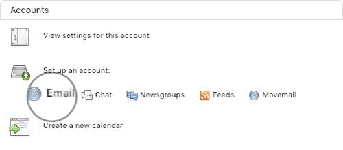 Agregar una nueva cuenta de correo electrónico al cliente de correo Thunderbird