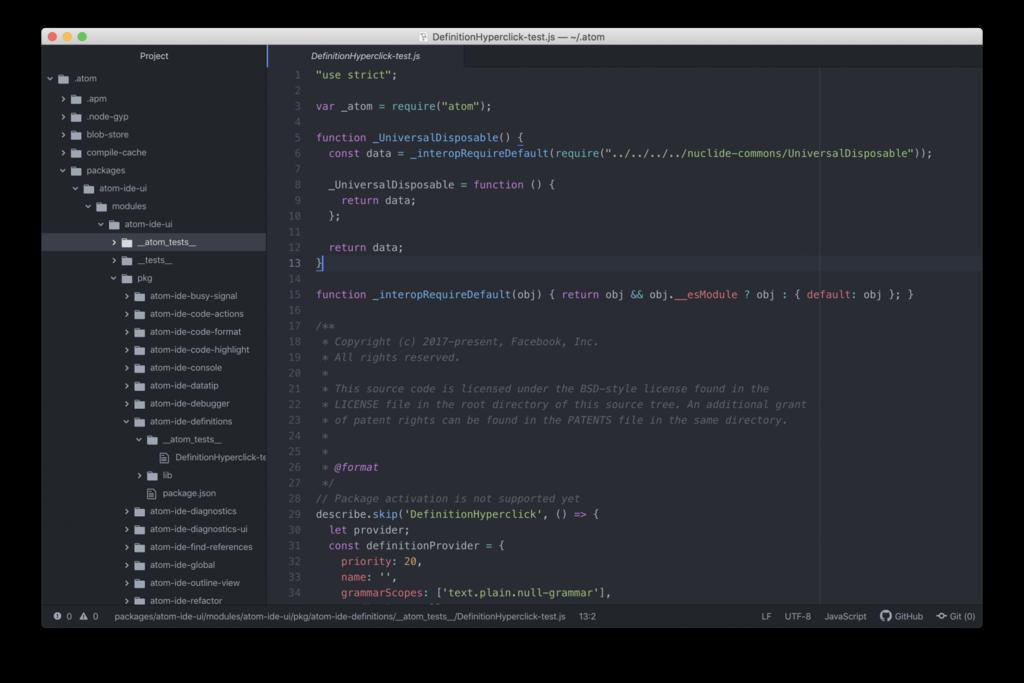 El mejor editor HTML Atom