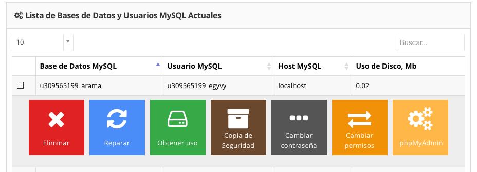 Accede a phpMyAdmin en el panel de Hostinger