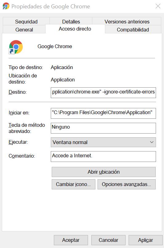 Cómo ignorar el error de certificado SSL en Chrome