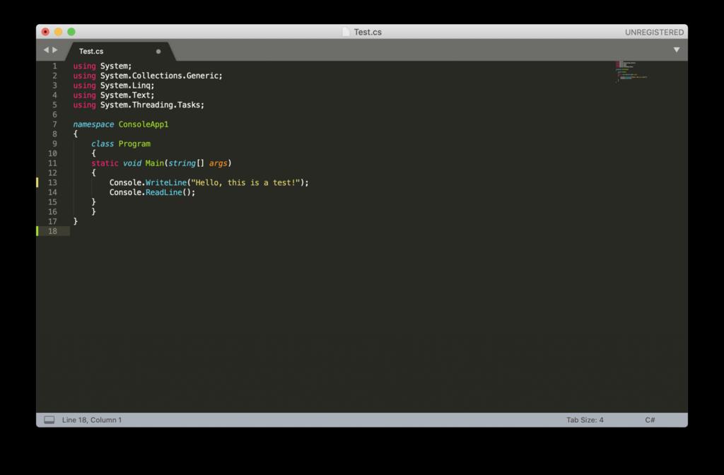 Editor de HTML Sublime Text