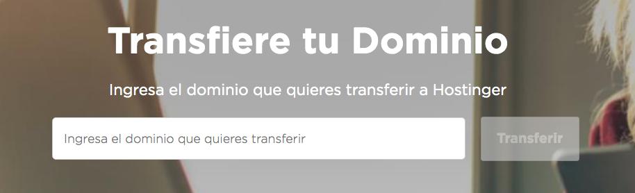 Transferencia de un nombre de dominio a Hostinger