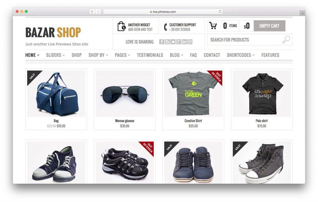 Plantilla de WooCommerce BazarShop