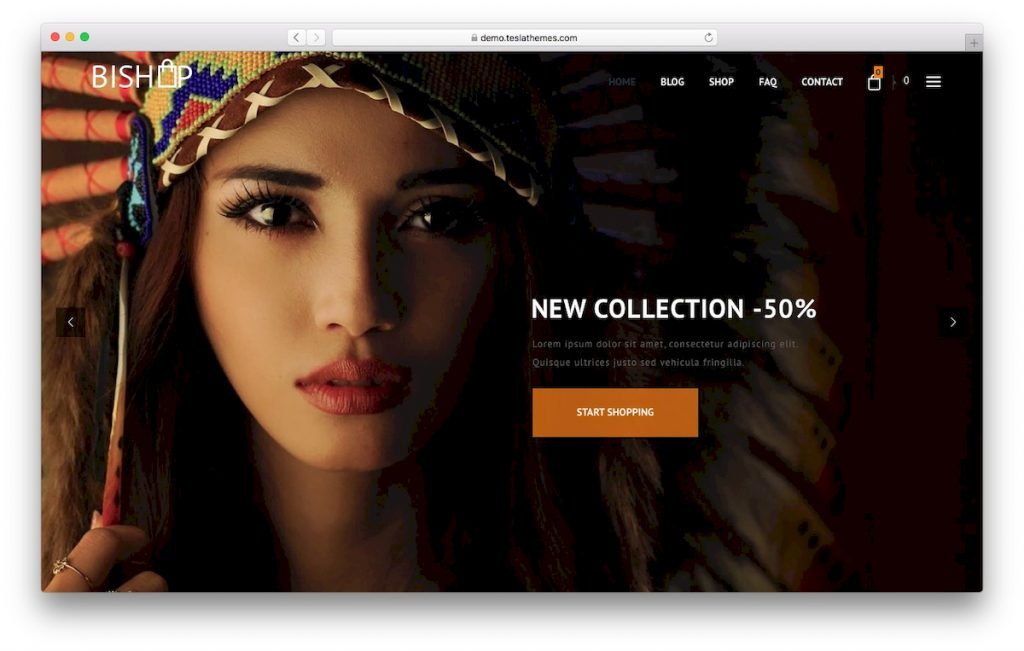Plantilla de Woocommerce Bishop