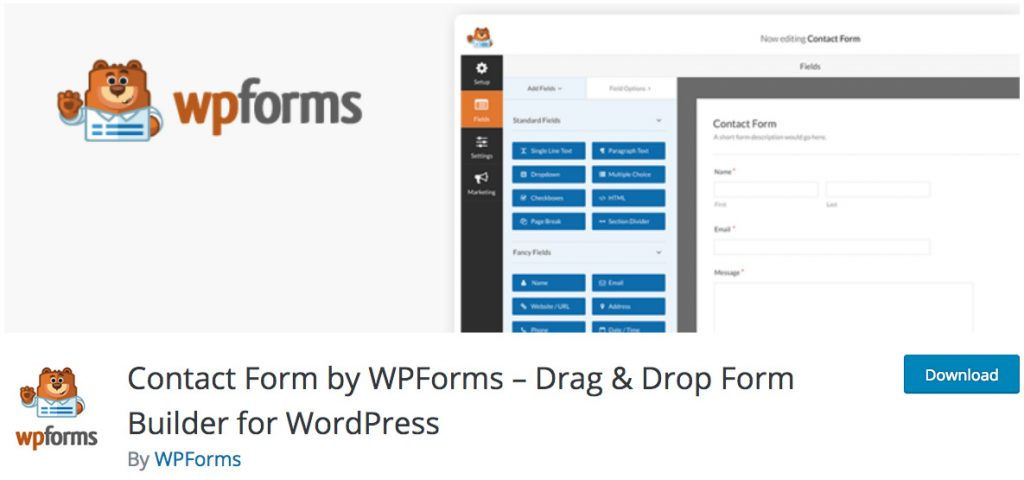 WPForms Plugin Formulario de contacto WordPress