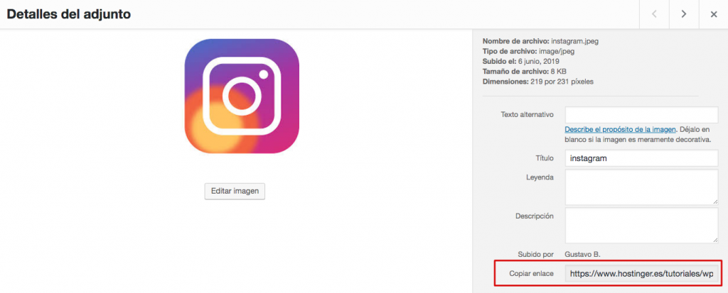 Pegando el código html del widget de redes sociales