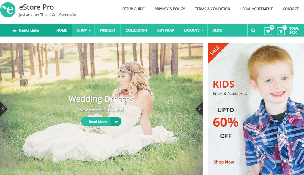 Plantilla eStore para WooCommerce