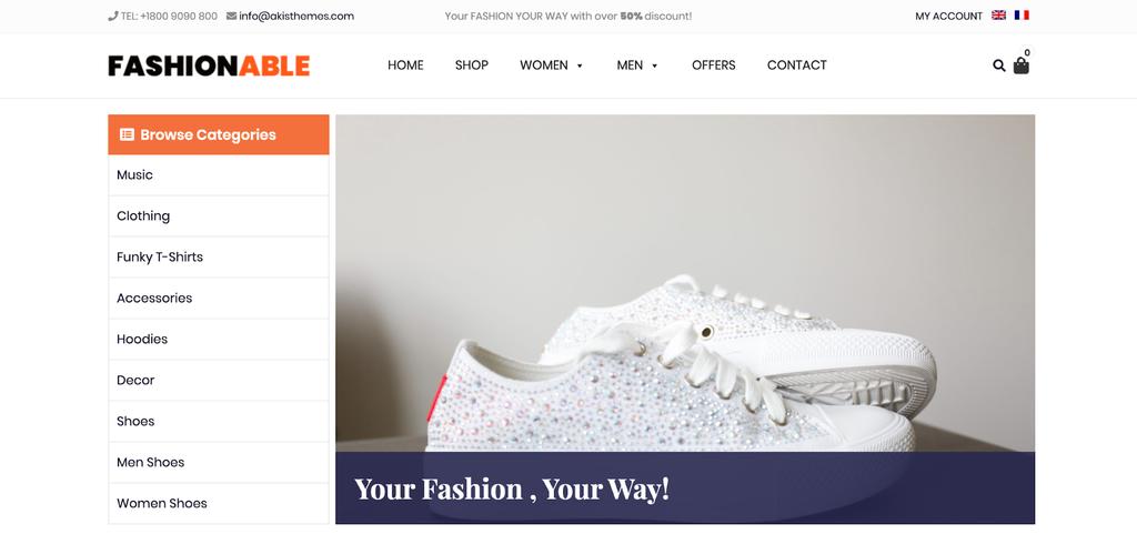 Plantilla de WooCommerce Fashionable Store