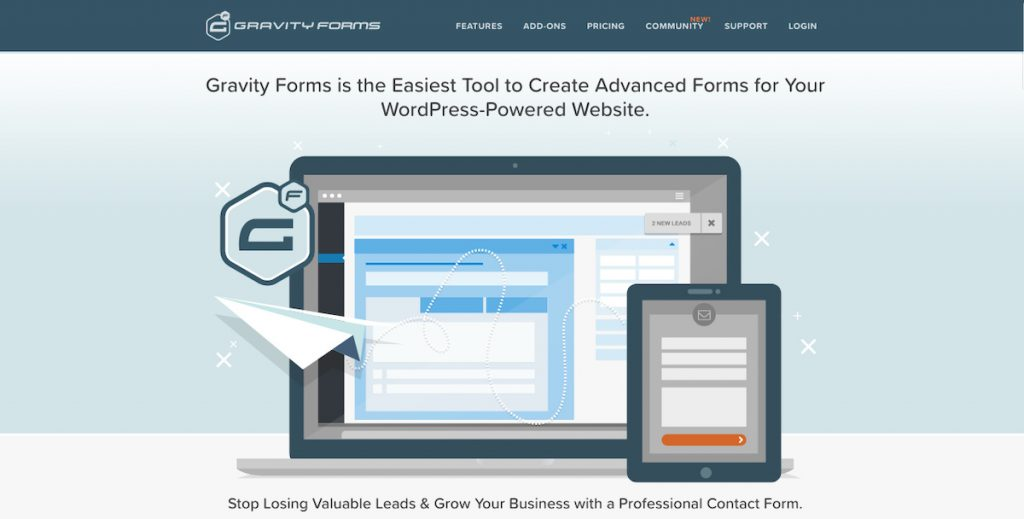 Gravity Forms Plugin Formulario de contacto WordPress