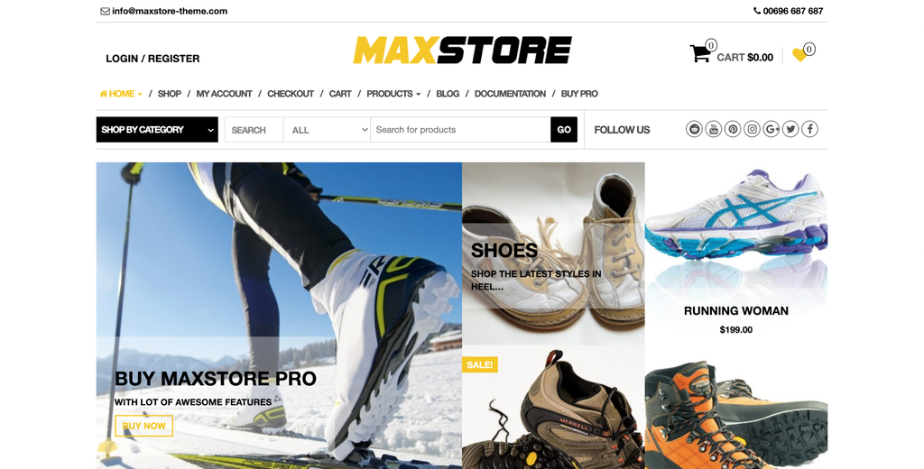 Tema para WooCommerce MaxStore