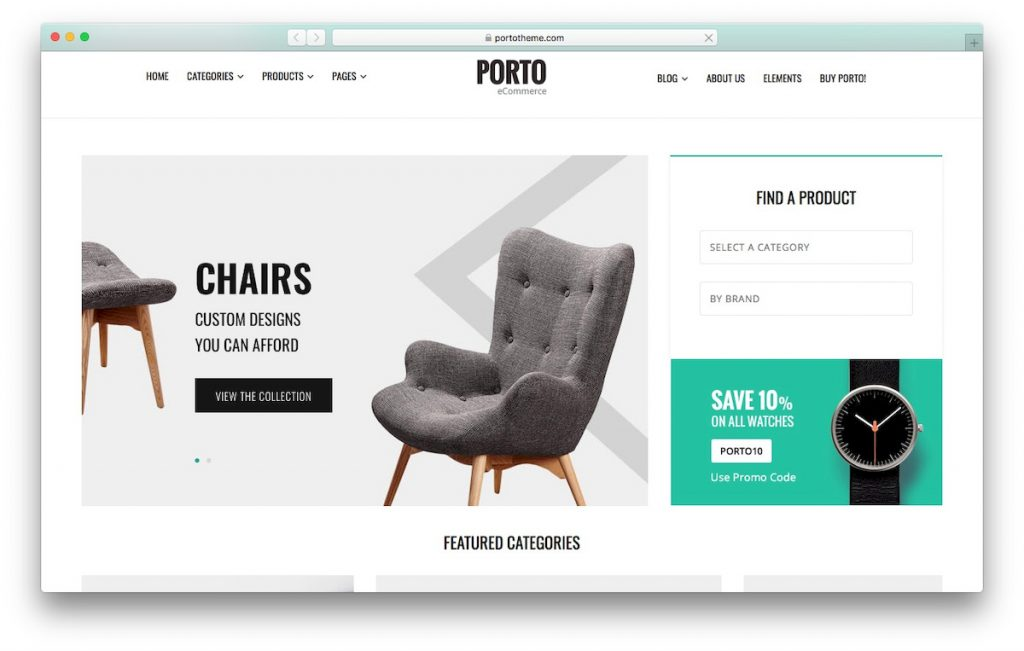 Plantilla Porto WooCommerce