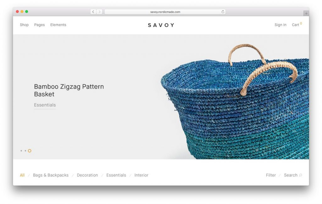 Savoy tema de WooCommerce