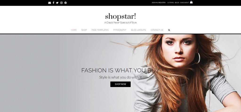 Tema para WordPress WooCommerce Shopstar